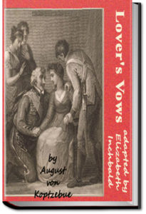 Lover's Vows by Elizabeth Inchbald